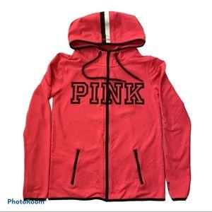 PINK VICTORIA'S SECRET Thumbholes Zip Hoodie, S